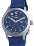 HEMEL Chevron Swiss ETA Quartz Field Watch with Matte Blue Dial and Sapphire Crystal #HM5