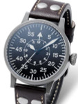 Laco Leipzig Type B Dial Swiss Mechanical Pilot Watch with Sapphire Crystal #861747
