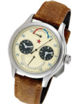 Red Star Dual-Time Automatic Watch with 42-Hour Power Reserve, Retrograde Date #6202G-2545C