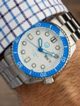 Islander Automatic Dive Watch with Solid-Link Bracelet, AR Sapphire Crystal, and Luminous Sapphire Bezel Insert #ISL-10
