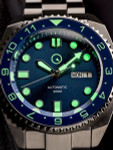 Islander Blue Automatic Dive Watch with AR Double-Dome Sapphire Crystal, and Luminous Dual-Time Ceramic Bezel Insert #ISL-27