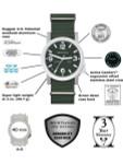 Bertucci Experior Anodized Aluminum Unibody Watch with Italian rubber strap #16509