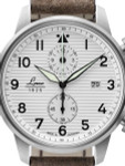 Laco Bern Two-Eye Chronograph Watch with 42mm Case and Corrugated Dial #861974