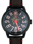 Red Star Jump Hour Automatic Watch AR Sapphire Crystal #8176G-A