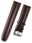 Toscana Brown Oil Tanned Double-Ridge Leather Watch Strap with Contrast Stitching #RB8-27380