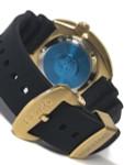 Seiko Turtle Prospex Automatic Dive Watch with Goldtone Case and Black Seiko Dive Strap #SRPC44