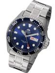 Orient Blue Dial Automatic Dive Watch with SS Bracelet #AA02005D