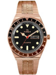Q Timex Reissue of 1970's 38mm Rose Goldtone Bracelet Watch #TW2U61500ZV