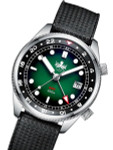PHOIBOS Eagle Ray 300-Meter Dual-Time GMT Dive Watch with Double Dome AR Sapphire Crystal #PX023A
