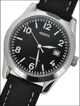 Aristo 4H230 Black Dial Swiss Automatic Cushion Case Officer's Watch