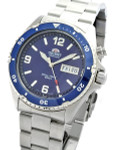 Orient Blue Automatic Dive Watch on a Bracelet #CEM65002D