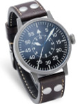 Laco Paderborn Type B Dial Swiss Automatic Pilot Watch with Sapphire Crystal #861749