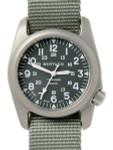 Bertucci A-2T Vintage Marine Green Titanium Watch with Olive Drab Nylon Strap #12030