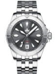 PHOIBOS Grey Voyager 2.0 Automatic Dive Watch with Double Dome AR Sapphire Crystal #PY026E