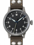 Laco 39mm Heidelberg Type A Dial Swiss Automatic Pilot Watch with Sapphire Crystal #862094