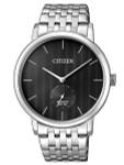 Citizen Quartz Dress Watch with Black Dial and SS Bracelet #BE9170-56E