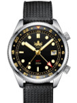 PHOIBOS Eagle Ray 300-Meter Dual-Time GMT Dive Watch with Double Dome AR Sapphire Crystal #PX023D