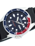 Seiko Automatic Dive Watch with Offset Crown and Rubber Dive Strap #SKX009J
