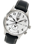 Junkers Big Date, Dual Time Watch with Two Crowns #6640-1