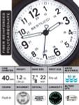 Bertucci DX3 Canvas Polycarbonate Unibody Watch, Evergreen Comfort Band, Saguaro Dial - 11093