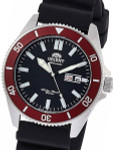 Orient Kanno Black Dial Automatic Dive Watch with Black Rubber Dive Strap #RA-AA0011B19A