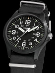 Traser Officer Pro Black PVD Steel Case Watch with a Sapphire Crystal #103350