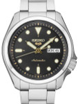 Seiko 5 Sports 24-Jewel Automatic Watch with Black Dial and SS Bracelet #SRPE57