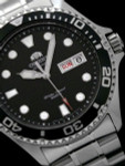 Orient Black Dial Automatic Dive Watch with SS Bracelet #AA02004B