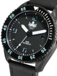 PHOIBOS Reef Master DLC 300-Meter Automatic Dive Watch with Double Dome AR Sapphire Crystal #PY015C