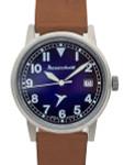 Messerschmitt 40mm Light Weight Titanium Case Swiss Quartz Pilot Watch #ME-385Ti