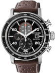 Citizen Eco-drive Chronograph Watch with 60-Minute Stopwatch #CA0641-24E