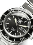 Seiko 41mm Sports 5, 23-Jewel Automatic Watch with Day and Date Window #SNZH55J1