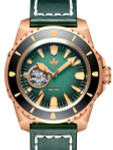 PHOIBOS Leviathan 500-Meter Automatic Dive Watch with Bronze Case, DD AR Sapphire Crystal #PY027A