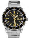 Seiko 41mm Sports 5, 23-Jewel Automatic Watch with Day and Date Window #SNZH57J1