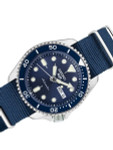 Seiko 5 Sports 24-Jewel Automatic Watch with Blue Dial and Nylon Strap #SRPD87