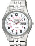 Seiko Railroad Approved Solar Watch with 37mm Case, 12 and 24 Hour Scale #SNE045