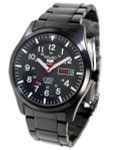 Seiko Military Gun Metal Plated Automatic Watch with 42mm Case #SNZG17K1