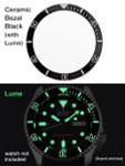 Black Ceramic Luminous Bezel Insert for Seiko SKX007, SKX009, SKX011 #C02-01