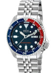 """Seiko SKX009 Divers Watch Strapcode Super-J """"Louis"""" Edition with a Domed AR Sapphire Crystal #SKX009"""