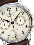Graf Zeppelin LZ 127 Quartz Chronograph Watch with Creme Dial #7678-5