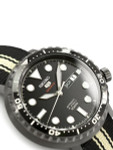Seiko 5 Sports Automatic 24-Jewel Bottle-Cap Watch with Black PVD Case #SRPC67K1
