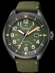 Citizen Military Watch Eco-Drive Green Dial with Green Nylon Strap #AW5005-21Y