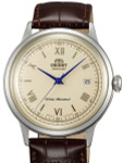 Orient 2nd-Gen Automatic Dress Watch with Cream Dial, Blue Hands #AC00009N