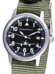 Messerschmitt 38.5mm Stainless Steel Case Aviator Watch #ME262S