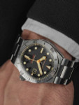 Spinnaker Boettger 300 Meter Hi-Beat Automatic Dive Watch with Stainless Steel Unique Black Dial #SP-5083-11