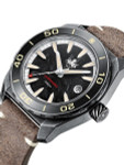 PHOIBOS Black Forged Carbon Dial Proteus 300-M Automatic Dive Watch with AR DD Sapphire Crystal #PY028D