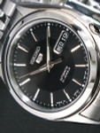 Seiko 5 Automatic Black Dial Watch with Stainless Steel Bracelet #SNKL23J1