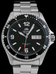 Orient II Black Dial Automatic Dive Watch with SS Bracelet #AA02001B