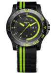 Traser Green Spirit Watch with Sapphire Crystal and striped black NATO strap #105542