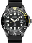 Seiko Prospex Black ion Solar Powered Dive Watch with 10-Month Power Reserve #SNE441